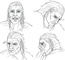 Ulfric Stormcloak: emotion practice 4 by SparklyFarts