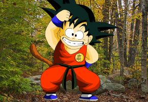 Kid Goku Monkey style by eggmanrules
