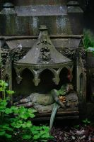 graveyard statue stock by rustymermaid-stock