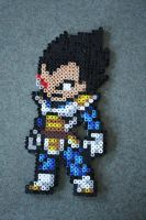 Vegeta Perler Bead Birthday Present! by Delilah2012