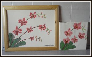 orchids painted by MrsEfi