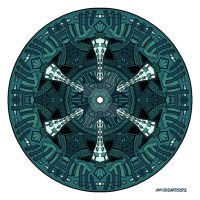 Mandala 49 Coloured Blue by Mandala-Jim