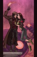 Gambit and Rogue. by RamonVillalobos