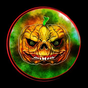 Drawlloween 15 - Pumpkin of DOOOOOOM!!!! by SimonSherry