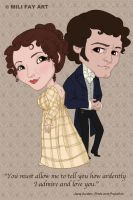 1995 PRIDE and PREJUDICE Elizabeth and Mr Darcy by artofMilica
