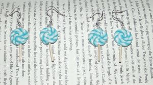 Blue lollipop earrings by MeticulousBlue