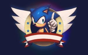 Sonic Wallpaper - Widescreen by 2dforever