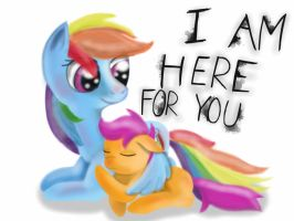 Rainbow and Scootaloo - I Am here for you by GromekTwist