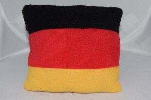 Tiny German Flag Pillow by Annelixa