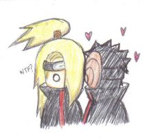 Tobi and Deidara by Tobi-kun