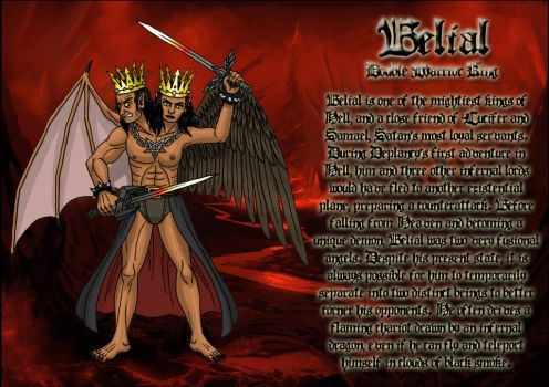 Belial, double warrior king by DoctorChevlong