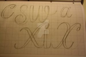 Typeface Sketches 2 by Weegraphicsman