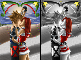KH2: The Joys of Mistletoe by lethalfairy