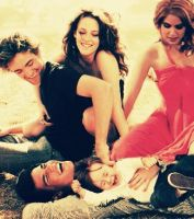 Edward,Bella,Jacob,baby Nessie and Rosalie by NENEnewby