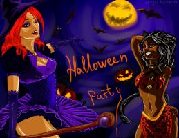 Dragon Age 2: Halloween Party by Spirity-N