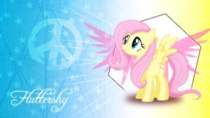 Fluttershy Peace Wallpaper by ALoopyDuck
