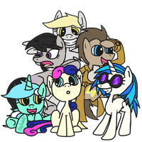 Group Shot With No BG by CrazyPizzafan927