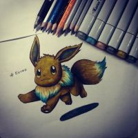 Eevee Cute by percyemberrainkalos