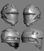 Recon Helmet Redesign Low Poly by MikeJensen