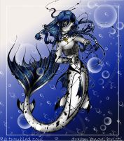 blue mermaid of the deep by dreamangelkristi