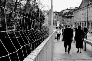 Fence on the bridge. by lizzAy