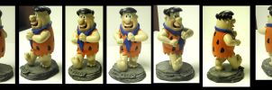 Fred Flintstone statue by FantasyCharacterz