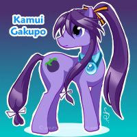 Vocaloid Pony: Kamui Gakupo by canarycharm