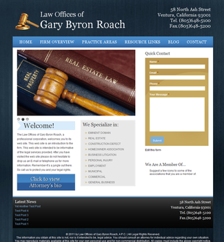 Gary Byron Roach Law Offices by blondishnet