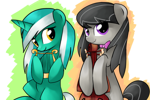 Lyra and Octavia by ShishaPony