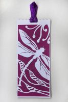 Paper cutted bookmark by InnaAdamenya