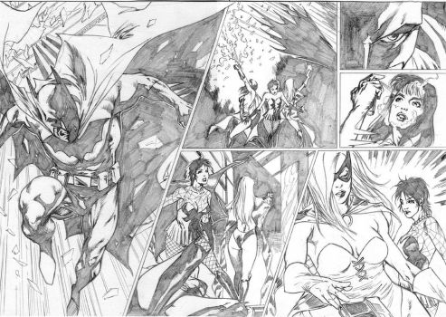 batman test pag 10 and 11 by robsonrocha