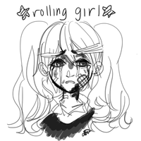 rolling girl by bageI