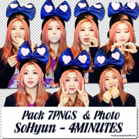 Pack 7PNGS and Photo SoHyun [4MINUTES] by hwangjungmina