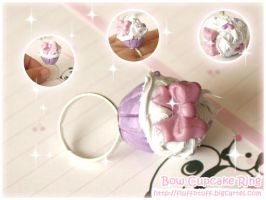 Bow Cupcake Ring by Fluffntuff