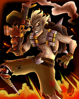 Overwatch Poster - Junkrat by AndrewMartinD