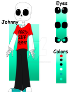 new UT OC: Johnny the skeleton by BabyWitherBoo