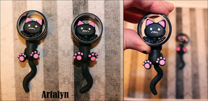 1 Inch - Beta Test Ear Kitty Plugs by Artalyn