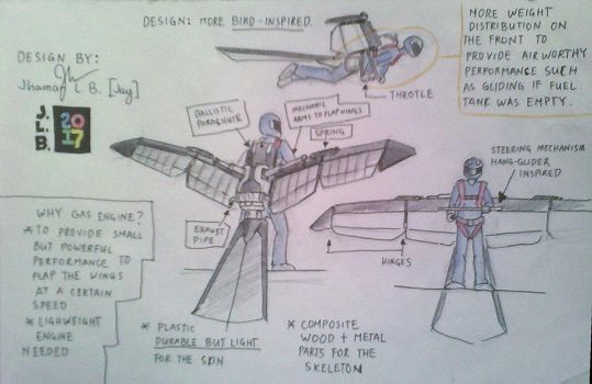 Ornithopter Concept by SammfeatBlueheart