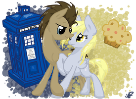A Tardis and Muffin [COMMISSION] by EbonyTails
