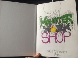 Monster Work Shop - front cover (not finished) by samgordonART