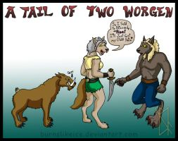A Tail of Two Worgen by BurnsLikeIce