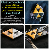 LOZ: A Link Between Worlds Triforce Giveaway!! by totalexistancefail