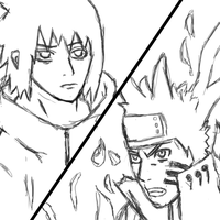 Naruto and sasuke by Jimbobads