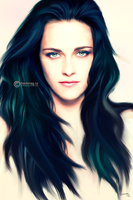kristen stewart painting by perlaque