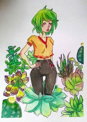 Succulent Girl by KatyaHam