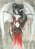 Demoness in Cathedral by mrinx