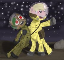 Space Captain Andromeda and Ensign Sidekick! by 8Aerondight8