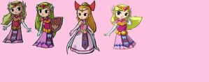 The Toon Zeldas by ToonPrincessZelda43