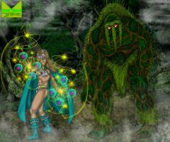 The Sorceress and the Swamp Monster by wondermanrules
