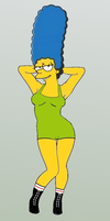 Marge Simpson: Lady Wrestler by paulibus2001